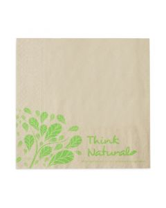 "Tissue-Servietten ""Think Natural"" 33x33 1/4 Falz, 2-lagig - braun - Zellstoffservietten"