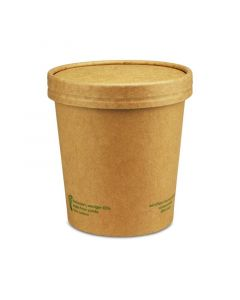 "Kompostierbarer Soup To Go-Container ""Urban Leaf"" mit Dampfdeckel - 12oz/300ml"