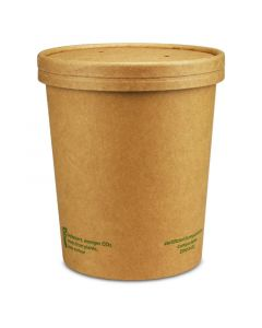 "Kompostierbarer Soup To Go-Container ""Urban Leaf"" mit Dampfdeckel - 32oz/900ml"