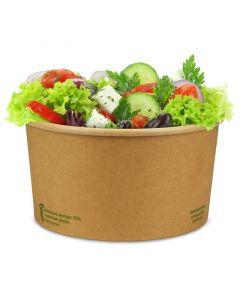 """Kompostierbare Salatschalen """"Urban Leaf"""", braunes Kraftpapier, PLA-beschichtet 900ml, Ø148mm, rund"""