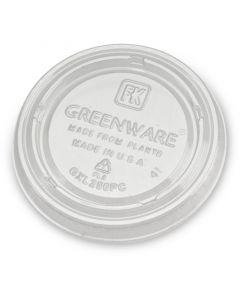 Kompostierbarer Deckel aus PLA zu Dressingbecher 90ml -  Ø75mm