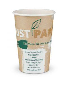 """Kompostierbarer Kaffeebecher """"Just Paper TALL"""", NextGen Coffee to go Becher, Ø80mm - 12oz, 300ml"""