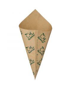 """Papierspitztüten """"Obst und Gemüse"""" aus Kraftpapier für ca. 1 kg - 33cm, braun"""