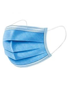 Mund-Nasen-Bedeckung aus Zellstoff (Einweg, Nicht-Medizinisch), 3-lagig blau