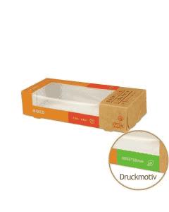 """Sushi-Box Größe S """"Sushi Supply - Mixed Vegetarian"""" - 165x70x35mm"""