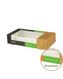 """Sushi-Box Größe M """"Sushi Supply - Mixed Vegetarian"""" - 165x90x35mm"""