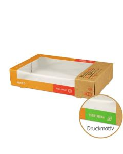 """Sushi-Box Größe L """"Sushi Supply - Mixed Vegetarian"""" - 190x120x35mm"""