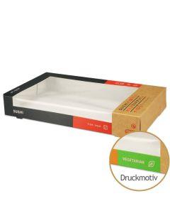 """Sushi-Box Größe XL """"Sushi Supply - Mixed Vegetarian"""" - 238x135x35mm"""