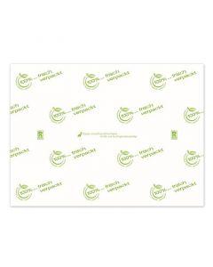 """Frischhaltepapier """"frisch verpackt"""" kompostierbares Einschlagpapier, 1/2 Bogen, 75x50cm"""
