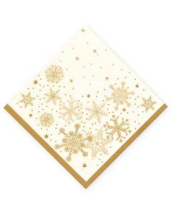 """DecoSoft Tissue-Servietten, 40x40cm 1/4 Falz, 2-lagig, Weihnachtsserviette """"Schneeflocke"""""""
