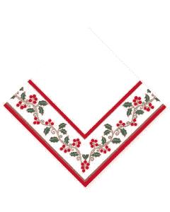 """DecoSoft Tissue-Servietten, 40x40cm 1/4 Falz, 2-lagig, Weihnachtsserviette """"Winterbeere"""""""