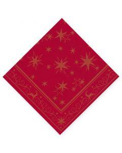 """DecoSoft Tissue-Servietten, 40x40cm 1/4 Falz, 2-lagig, Weihnachtsserviette """"Adventsstern"""""""