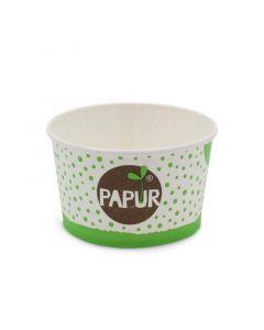 """Kompostierbare Eisbecher """"PAPUR"""" ohne Plastik-Beschichtung - 260ml"""