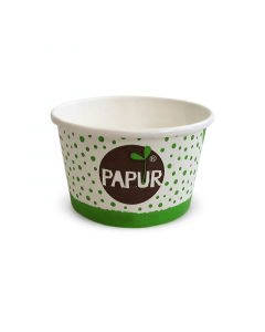 """Kompostierbare Eisbecher """"PAPUR"""" ohne Plastik-Beschichtung - 340ml"""