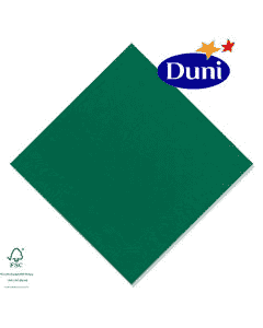 Duni Zelltuch-Servietten 33x33cm - Jägergrün (Dunicel-Servietten, Tissue, 3-lagig) # 211505