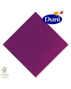 Duni Zelltuch-Servietten 33x33cm - Aubergine/Plum (Dunicel-Servietten, Tissue, 3-lagig) # 115948