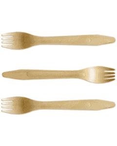 houten vork, premium - 16,5 cm, milieuvriendelijk tafelvork, Houten bestek voor moderne to-go/takeaway