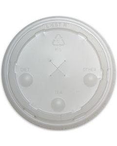 Strohhalm-Deckel für Pappbecher - 0,3l, 80mm, Plastikdeckel mit Kreuzschlitz