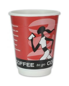 "dubbelwandige koffiebekers, karton, coffee-to-go ""Coffee Grabbers""- 12oz, 300 ml"