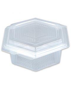 Haushaltsboxen sechseckig mit Deckel - 1500ml