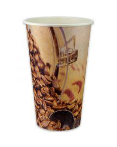 """RESTPOSTEN - Kaffeebecher, Pappe, Coffee to go Becher """"Coffee Beans"""" - 16oz, 400ml"""