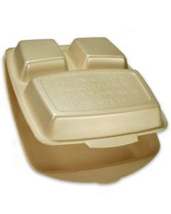 Menüboxen / Dinnerboxen, geschäumt - Premium - 3-geteilt