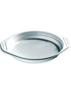 Wegwerpborden met oren, plastic borden (PP), wit, zonder vakjes, 22 cm, plastic serviesgoed rond
