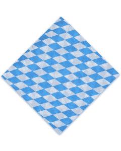 """Papierservietten - 33x33cm, 1/4 Falz 1-lagig, blau-weiße Bayern-Servietten """"Bayerische Raute"""""""