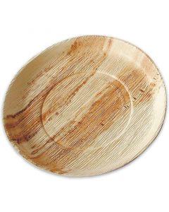Party-Teller Palmblatt (kompostierbares Palmblättergeschirr) - Grillteller Ø 24cm rund