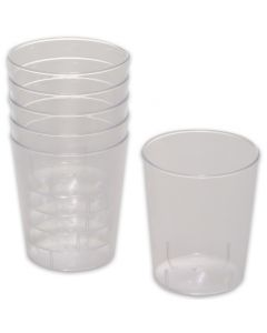 Wegwerp-borrelglazen 2 cl en 4 cl, plastic bekers doorzichtig voor shots & party-drinks