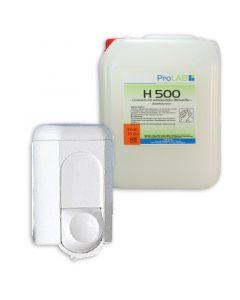 Kleiner Seifenspender für flüssige Handwaschseife, für 350ml Inhalt, weiß