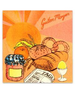 Tissue-Servietten, 33x33 1/4,2-lagig, Frühstücksserviette, Breakfast-Motiv