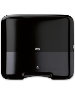 Tork-dispenser voor papieren zigzag en C-vouwhanddoeken H3 Mini Elevation voor 500 vellen, zwart
