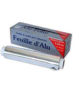 Aluminiumfolie, 30cm / 150m, Alufolie 12my, in der Box