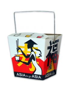 Asia-Box, Foldpak mit Henkel ''Asia Grabbers'' - 16oz/500ml
