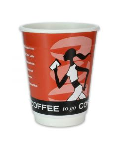 "Doppelwand-Kaffeebecher, Pappe, Coffee to go ""Coffee Grabbers"" - 8oz, 200ml"