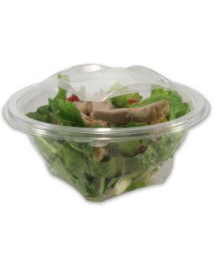 Salatschale rund - PET glasklar mit Deckel - 250ml