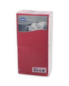 Tork Advanced tissue-servetten, 40x40 1/4, 3-laags, celstofservetten - rood