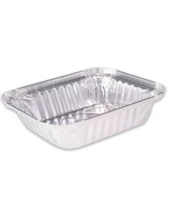 Aluminium bakjes - rechthoekig 212 x 147 mm, 940 ml, Aluminium bakjes voor menu's