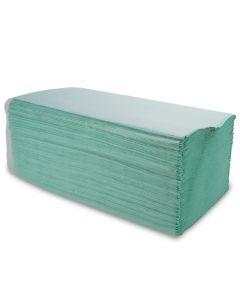 """papieren handdoeken, zigzag, 1-laags (z-vouw handdoekpapier) """"Eco"""", groen"""