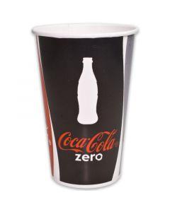 Pappbecher ''Coca Cola'' für Softdrinks - 0,5l - Ø90mm
