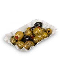 Pappschalen KU51 9x14x3cm, eckig - Pommesschalen für Pommes Frites & Currywurst