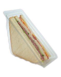 Sandwichverpakking - Driehoekige sandwichdozen 3-laags met aanhangend deksel