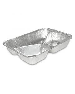 Aluminium menuschalen - 3-delig 227x177x39mm, diep, aluminium schalen