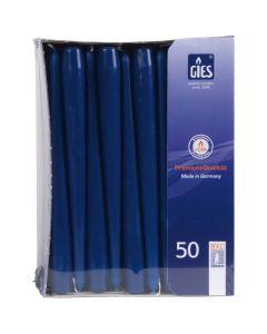 Dinerkaarsen (GIES) - donkerblauw, 250 / 22mm horeca 100 stuks