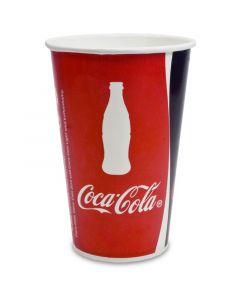 Kartonnen bekers ''Coca Cola'' voor frisdranken - 0,75l - Ø 105mm