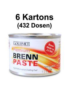 6 Kartons - Profi- Brennpaste GOURMET 200g-Dose, Sicherheitsbrennpaste für Chafing Dish 2,5h