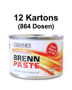 12 Kartons - Profi- Brennpaste GOURMET 200g-Dose, Sicherheitsbrennpaste für Chafing Dish 2,5h