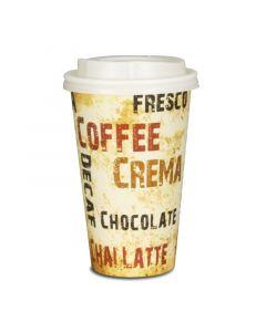 """Kaffeebecher, Pappe, Coffee to go Becher """"Barista"""" - 16oz, 400ml"""