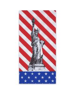 """Tissue-Servietten GOURMET, 40x40 1/8 Falz, 2-lagig - USA-Flagge Motiv """"Freiheitsstatue"""""""